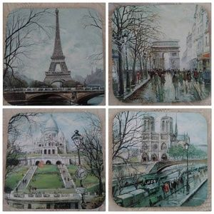 Vintage Set of 4 Landmark Coasters